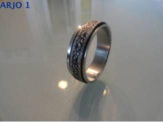 stainless steel rotatie ring, nr 46-GEEN VERZENDKOSTEN.