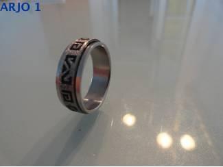 Rvs stainless steel rotatie ring, nr 49 -GEEN VERZENDKOSTEN.