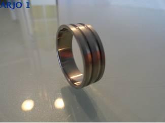 steel ring maat 22, Nr 65 -GEEN VERZENDKOSTEN.