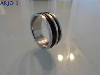 Stainless-Steel ring mt 20 Nr 73-GEEN VERZENDKOSTEN.