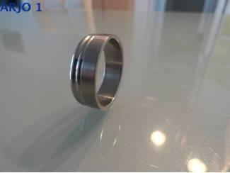 stainless-steel ring maat 22, Nr 63-GEEN VERZENDKOSTEN.
