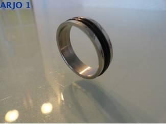 Ringen Stainless-Steel ring maat 21, Nr 76-GEEN VERZENDKOSTEN.