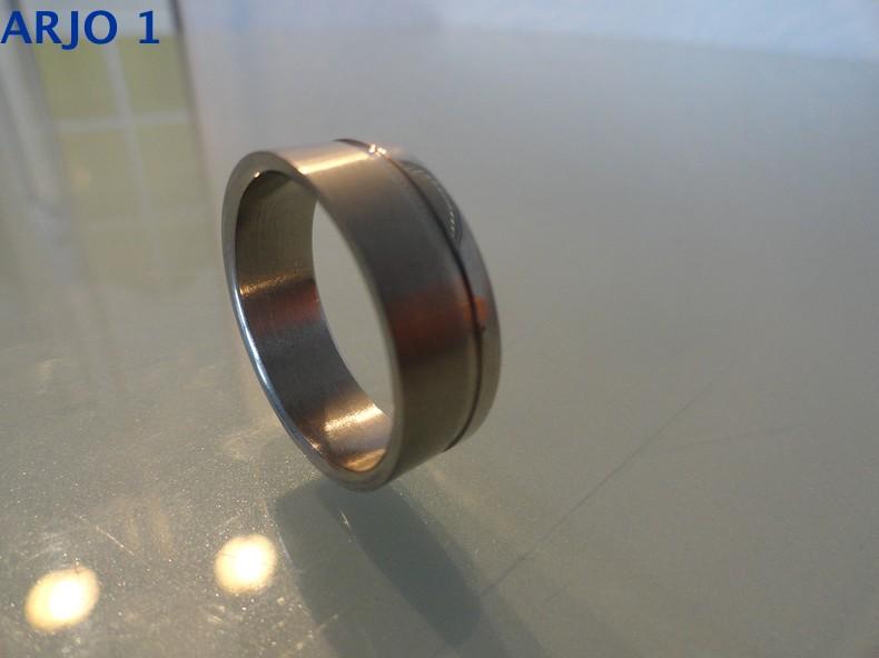 Stainless-Steel ring maat 22 Nr 69 -GEEN VERZENDKOSTEN.