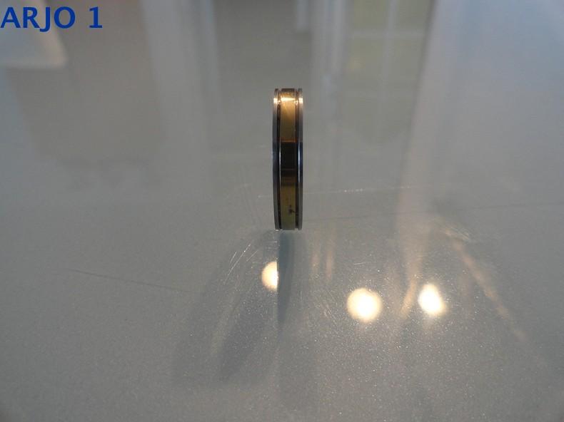 Stainless-steel ring maat 19 bicolor, Nr 72-GEEN VERZENDKOSTEN