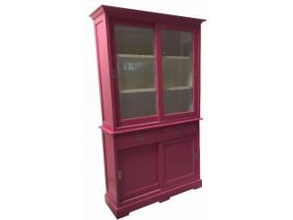 Winkelkast roze - wit 120 x 50/40 x 220cm