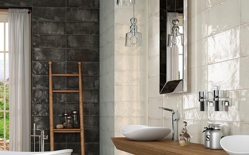 Badkamer Tegels Zwart : Wandtegels retro zwart rustieke badkamertegels bestel online tegels