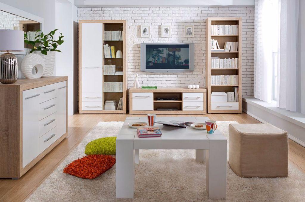 Complete Woonkamer Actie : Actie complete woonkamer eiken hoogglans wit nu nieuw