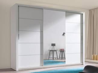 ACTIE Moderne kledingkast met spiegel 250cm diverse kleuren NIEUW