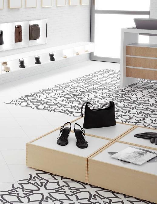 Vloertegels keuken zwart wit tegels keuken vloertegels zwart wit galerij fotos van - Idee outs semi open keuken ...