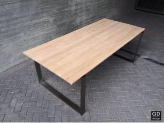 Rvs design eet- tafelpoten / onderstel / frame model MANHATTAN