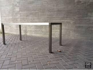 Rvs design eettafel- poten / onderstel / frame model MONACO