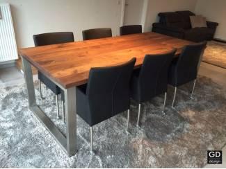 Rvs design eettafel- poten / onderstel / frame model QUATRO