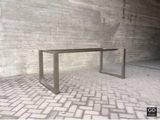 Rvs design tuintafel- poten / onderstel / frame model VANNA