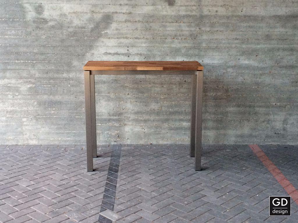 Rvs design bartafel- poten / onderstel / frame model BARCA op maa