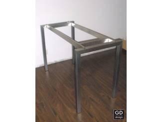 Rvs design tuin bartafel- poten / onderstel / frame model BARCA o