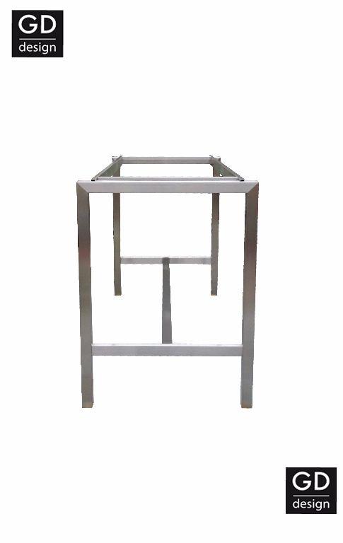 Rvs design bartafel- poten / onderstel / frame model BARCA met vo