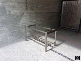 Rvs design bartafel- poten / onderstel / frame model BARCA met du