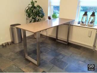 Tafels Rvs design bartafel- poten / onderstel / frame model VANNA, op ma