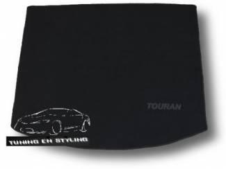 Kofferbakmat Velours Volkswagen met logo Touran