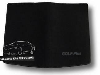 Kofferbakmat Velours Volkswagen met logo Golf Plus