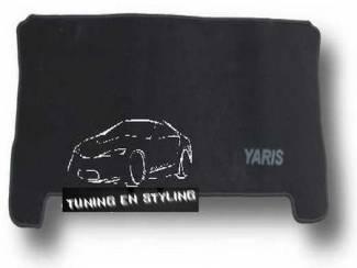 Kofferbakmat Velours Toyota met logo Yaris 3 deur