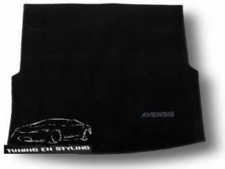 Kofferbakmat Velours Toyota met logo Avensis III