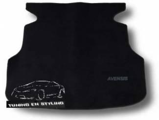 Kofferbakmat  Velours Toyota met logo Avensis II
