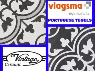 Portugese Vloertegels Zwart/Wit Bestel Bij Vlagsma Online