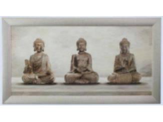 Schilderij Drie Eenheid Boedha Boeda Boeddha Budda Buddha