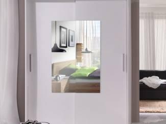 ACTIE Moderne kledingkast met spiegeldeuren wit of wengé NIEUW