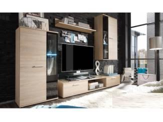 VOORRAAD Compleet tv-wandmeubel eiken of mat wit NU 219,- NIEUW