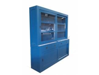 Winkelkast design Hasselt blauw 220 x 50/40 x 220cm