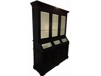 Grutterskast 150cm breed zwart schuine kleppen