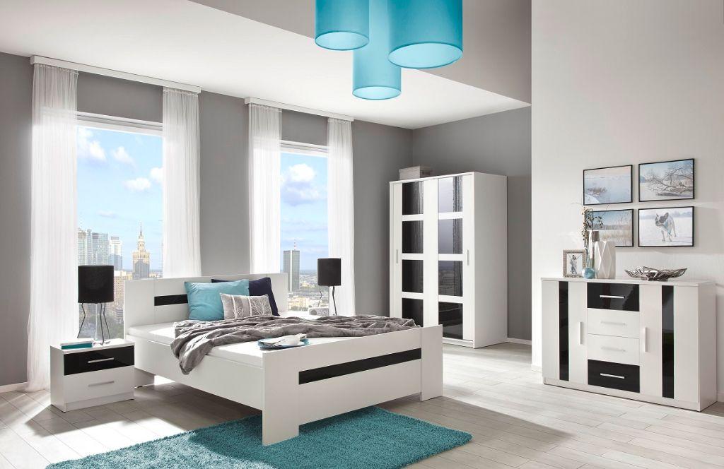 Slaapkamer met zwart witte details wooninspiratie slaapkamer
