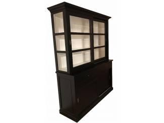 Buffetkast Lisse zwart 160 x 50/40 x 220cm
