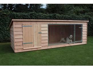 Honden   Toebehoren Luxe Douglas hondenkennel met nachthok type: Bello
