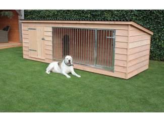 Luxe Douglas hondenkennel met nachthok type: Bello
