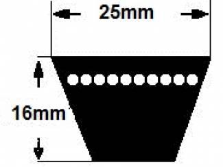 4 stuks Megadyne 25x2360 Li V-snaar