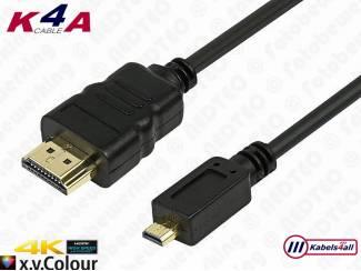 HDMI naar Micro HDMI kabel vanaf 1.00 meter t/m 5.00 meter