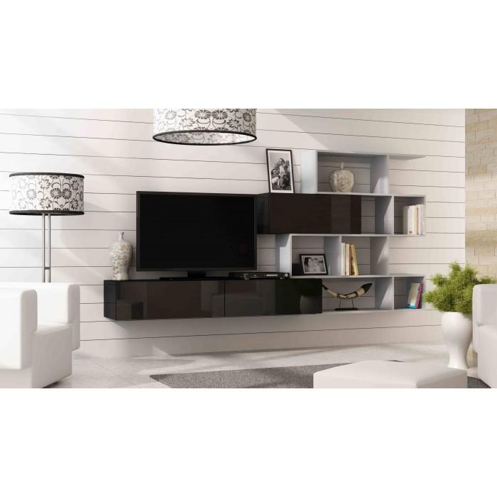 ACTIE Compleet zwevend tv-wandmeubel met boekenkast NIEUW : Kasten ...