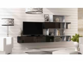 ACTIE Compleet zwevend tv-wandmeubel met boekenkast NIEUW