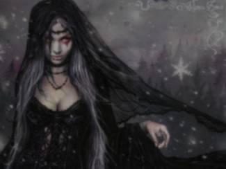 Gothic Poster Winter van Victoria Frances