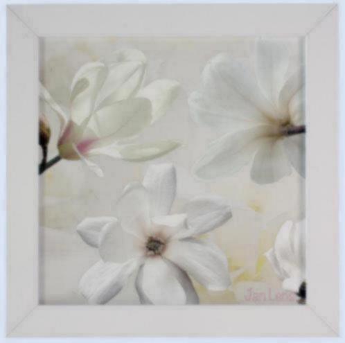 Tweeluik schilderij bloemen magnolia gele roos lavendel accessoires en decoratie - Decoratie schilderij wc ...