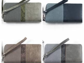 Luxe duo kleurige portemonnee?Afneembare polsband