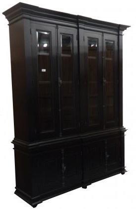 Chique zwarte buffetkast espagnolet 190 x 240cm kasten en dressoirs - Klassieke chique meubels ...