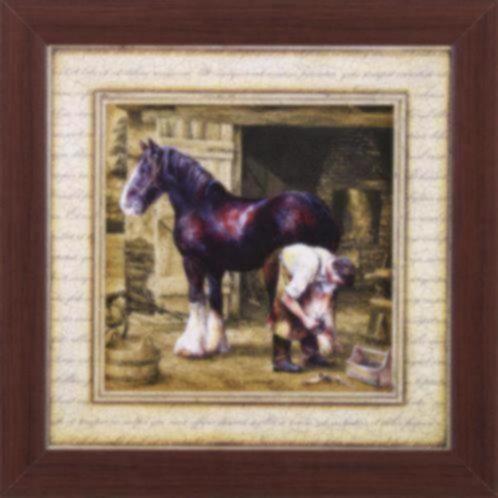 Schilderij paard paarden op boerderij drieluik accessoires en decoratie - Decoratie schilderij wc ...
