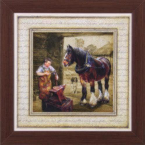 Schilderij paard paarden op boerderij drieluik accessoires en decoratie - Decoratie schilderij gang ...