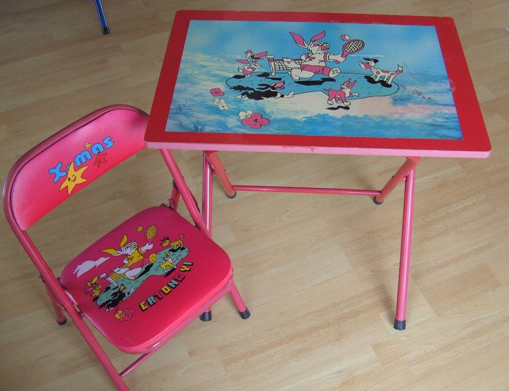 Kinder tafel en klapstoeltje rood kinderkamer overige meubels - Am pm meubels ...