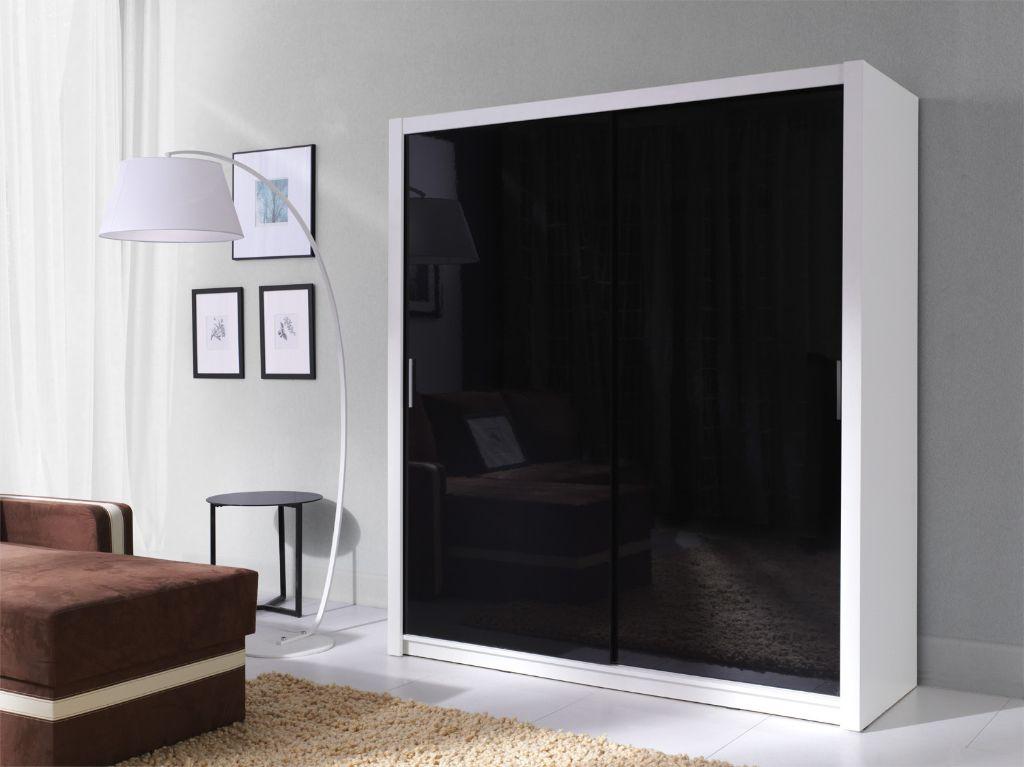 Voorraad moderne witte hoogglans zwarte kledingkast nieuw kasten en dressoirs - Moderne kledingkast ...