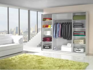 Actie grote witte kledingkast met spiegeldeuren nieuw kasten en dressoirs - Kledingkast en dressoir ...
